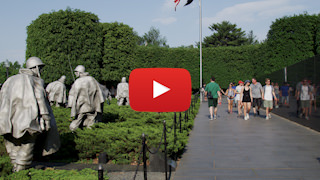 The Korean War Veterans Memorial l in Washington DC