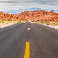 Road through the Valley of Fire