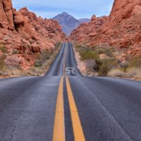 Hilly road in Valley of Fire