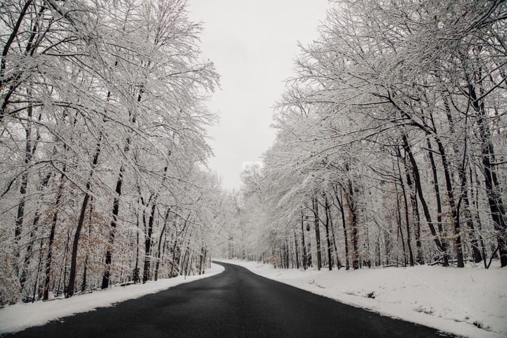 Wintry landscape Road