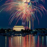 Fireworks over the Washington DC Monunment