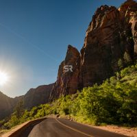 Scenic highway in Zion National Park