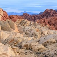 Rock formations in the Nevada desert at Valley of Fire State Park