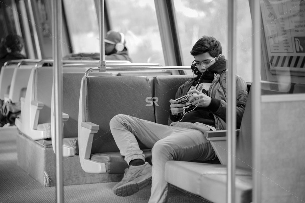 Young Boy riding the DC Metro
