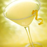 Yellow margarita isolated