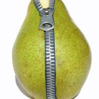 Zipper pear